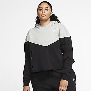 Women's Plus Size Lifestyle Hoodies & Pullovers.