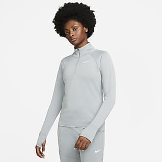 Nike Therma-FIT Γυναικεία μπλούζα για τρέξιμο με φερμουάρ στο μισό μήκος