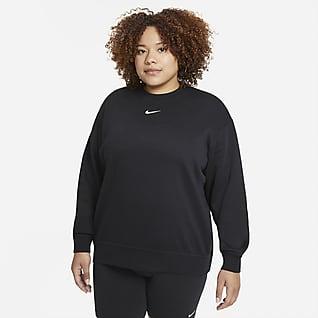 Nike Sportswear Collection Essentials Fleecetröja med rund hals för kvinnor (större storlekar)