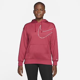 Nike Therma-FIT Γυναικείο φλις φούτερ προπόνησης με κουκούλα και σχέδιο