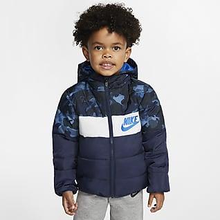 Nike Sportswear Chamarra acolchada con cierre completo para niño pequeño