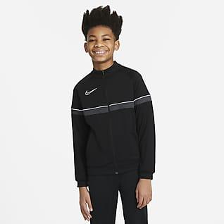 Nike Dri-FIT Academy Chamarra de entrenamiento de fútbol de tejido Knit para niños talla grande