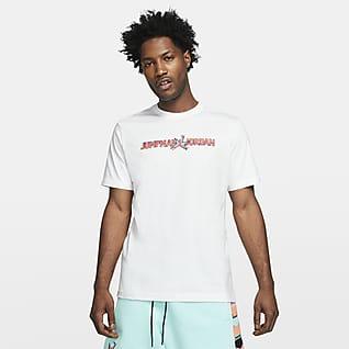 Jordan AJ11 Kortärmad t-shirt med tryck för män