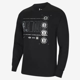 布鲁克林篮网队 Courtside Nike NBA 男子长袖T恤