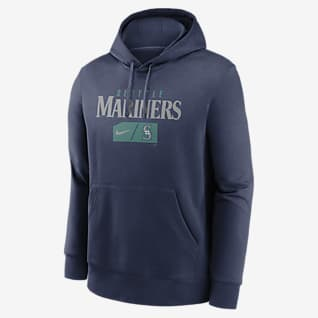 Nike Lettering Club (MLB Seattle Mariners) Men's Pullover Hoodie
