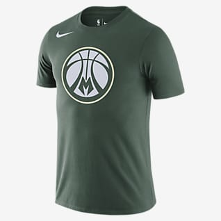 Milwaukee Bucks Nike Dri-FIT NBA Logolu Erkek Tişörtü