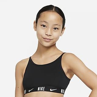 Nike Trophy Sports-BH til store barn (jente)