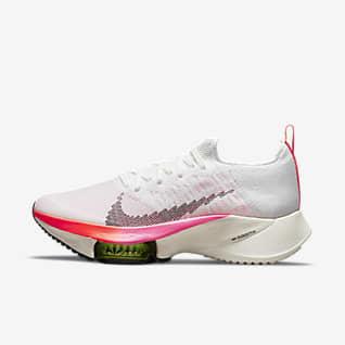 Nike Air Zoom Tempo NEXT% Flyknit Hardloopschoen voor dames (straat)