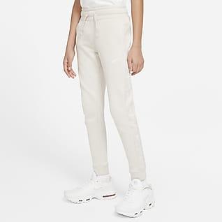 Nike Sportswear Swoosh Fleecebukse for store barn (gutt)
