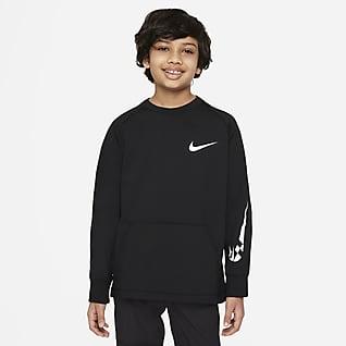 Nike Comfort Camiseta de entrenamiento de tejido Fleece para niños talla grande