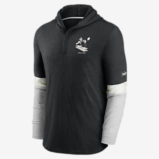 Nike Historic (NFL Steelers) Men's Long-Sleeve Hooded Henley