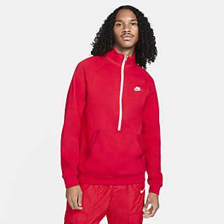 Nike Sportswear Modern fleece-tröja med halv dragkedja för män