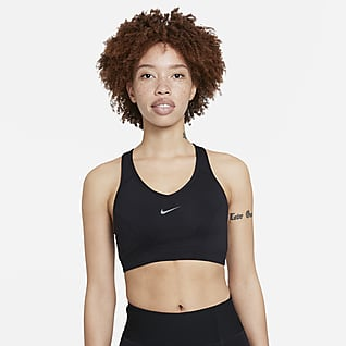 Nike Dri-FIT Swoosh Icon Clash Women's Medium-Support 1-Piece Pad V-Neck Sports Bra