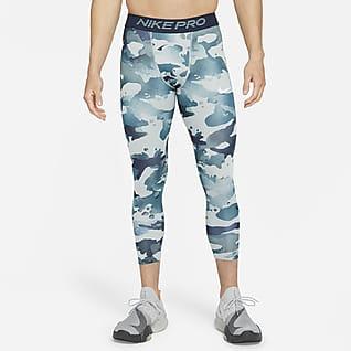 Nike Pro Trekvartslånga leggings med kamouflagetryck