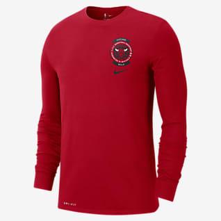 Bulls Crest-logo Nike Dri-FIT NBA T-skjorte til herre