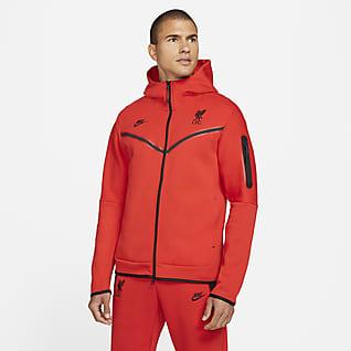 Liverpool FC Tech Fleece Windrunner Męska bluza z kapturem i zamkiem na całej długości