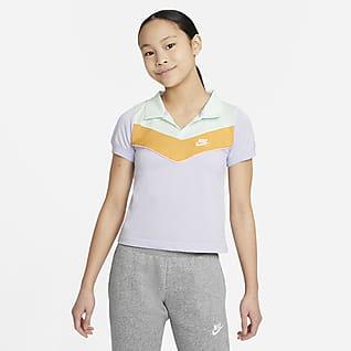 Nike Sportswear Heritage Pikétröja för ungdom (tjejer)