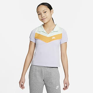 Nike Sportswear Heritage Older Kids' (Girls') Polo