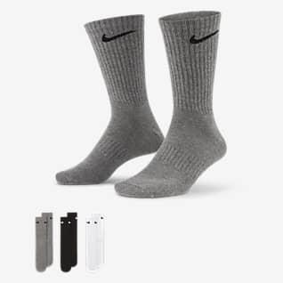 Nike Everyday Lightweight Κάλτσες προπόνησης μεσαίου ύψους (3 ζευγάρια)