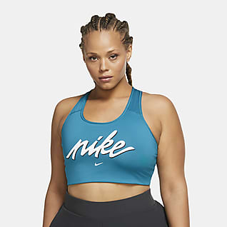 Nike Swoosh Femme Women's Medium-Support Non-Padded Graphic Sports Bra (Plus Size)