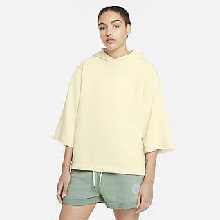 Nike Sportswear Icon Clash เสื้อมีฮู้ดแขนสั้นผู้หญิง