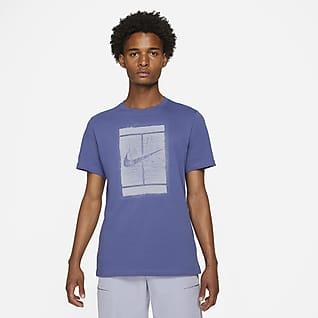 NikeCourt Tennis-T-shirt med sæsonfarver til mænd