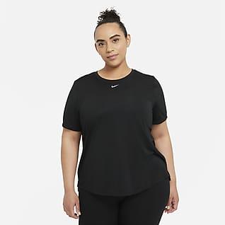 Nike Dri-FIT One Γυναικεία κοντομάνικη μπλούζα με κανονική εφαρμογή (μεγάλα μεγέθη)