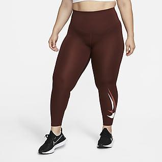 Nike Dri-FIT Swoosh Run Løbeleggings med mellemhøj talje og 7/8-længde til kvinder (plus size)