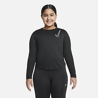 Nike Dri-FIT One Big Kids' (Girls') Long-Sleeve Training Top (Extended Size)