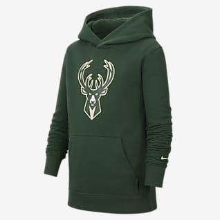 Milwaukee Bucks Essential Bluza z kapturem dla dużych dzieci Nike NBA