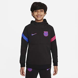 F.C. Barcelona Older Kids' 1/2-Zip Football Hoodie