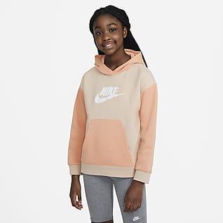 Nike Sportswear Mikina s kapucí pro větší děti (dívky)