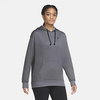 Nike Therma Sudadera con capucha de entrenamiento sin cierre para mujer
