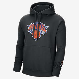 New York Knicks City Edition Logo Sudadera con capucha sin cierre Nike NBA para hombre