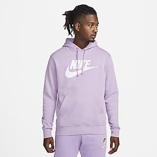 Nike Sportswear Club Fleece Ανδρική μπλούζα με κουκούλα και σχέδιο