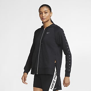 Nike Dri-FIT Get Fit Hosszú cipzáras kapucnis női polár edzőpulóver