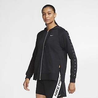 Nike Dri-FIT Get Fit Sweat à capuche de training à zip en tissu Fleece pour Femme