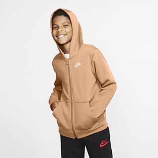 Nike Sportswear Club Bluza z kapturem i zamkiem na całej długości dla dużych dzieci