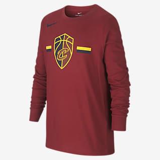 Cleveland Cavaliers Nike Dri-FIT Logo Hosszú ujjú, NBA-s póló nagyobb gyerekeknek