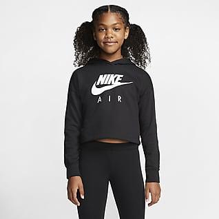 Nike Air Укороченная худи для девочек школьного возраста