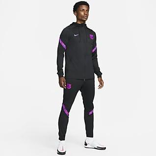 FC Barcelona Strike Stickad fotbollstracksuit Nike Dri-FIT för män