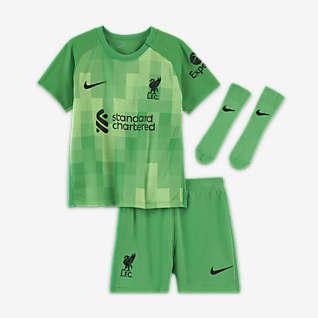 Liverpool FC 2021/22 Goalkeeper Fotballdraktsett til sped-/småbarn
