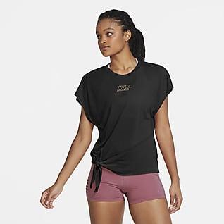Nike Dri-FIT Γυναικεία κοντομάνικη μπλούζα προπόνησης