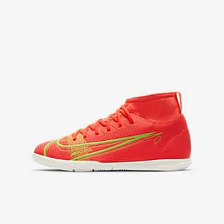 Nike Jr. Mercurial Superfly 8 Club IC Küçük/Genç Çocuk Kapalı Saha/Salon Kramponu