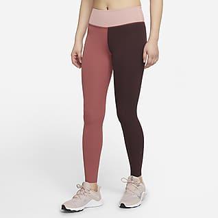 Nike One Luxe เลกกิ้งผู้หญิงผ้าจั๊มพ์เอวปานกลาง