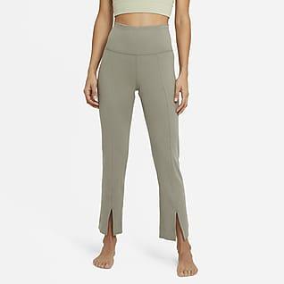 Nike Yoga Pantalones de 7/8 de tela rib para mujer