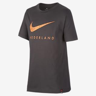 Países Baixos T-shirt de futebol Júnior