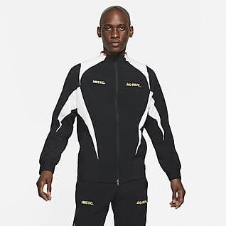 Nike F.C. Vävd fotbollsjacka för män