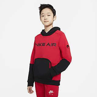 Nike Air Pullover-hættetrøje i fleece til store børn (drenge)