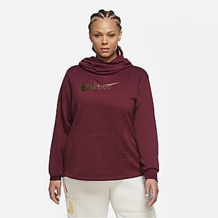Nike Sportswear Sudadera de tejido Fleece y cuello en embudo para mujer (talla grande)